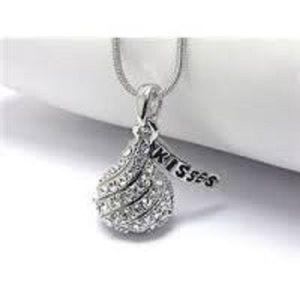 Hershey kisses jewelry on poshmark new crystal hershey kiss pendant neclace mozeypictures Choice Image